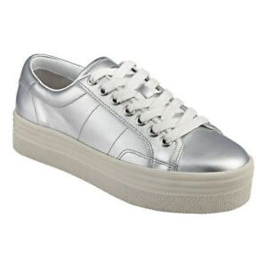 Marc Fisher Silver Platform Sneakers